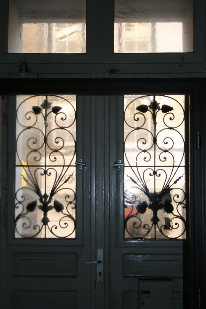 Eingangstür, Glas