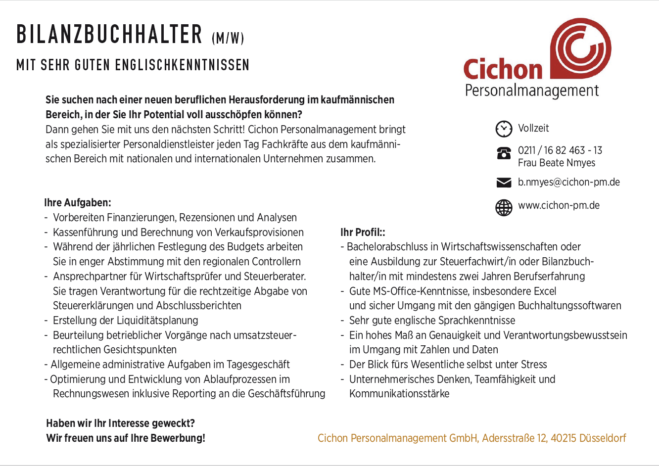 Cichon,KR-ONE Jobs , Febuar2018, Festanstellung