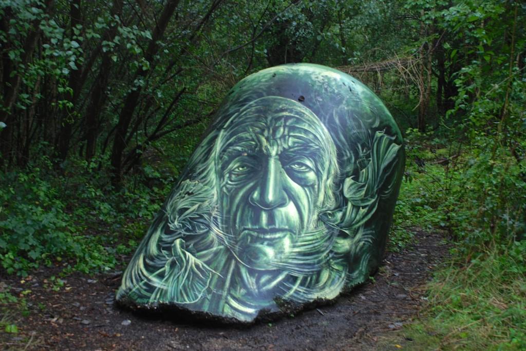 Gesicht, Grün, Wald