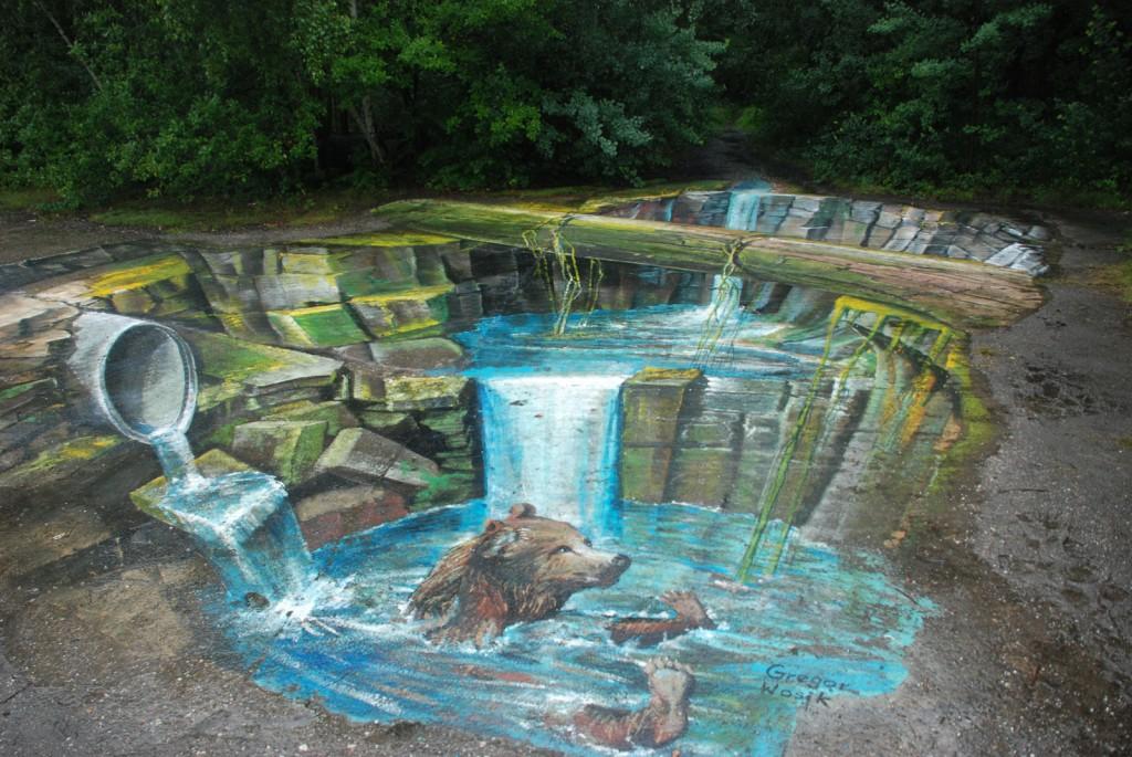 Bär, Wasserfall