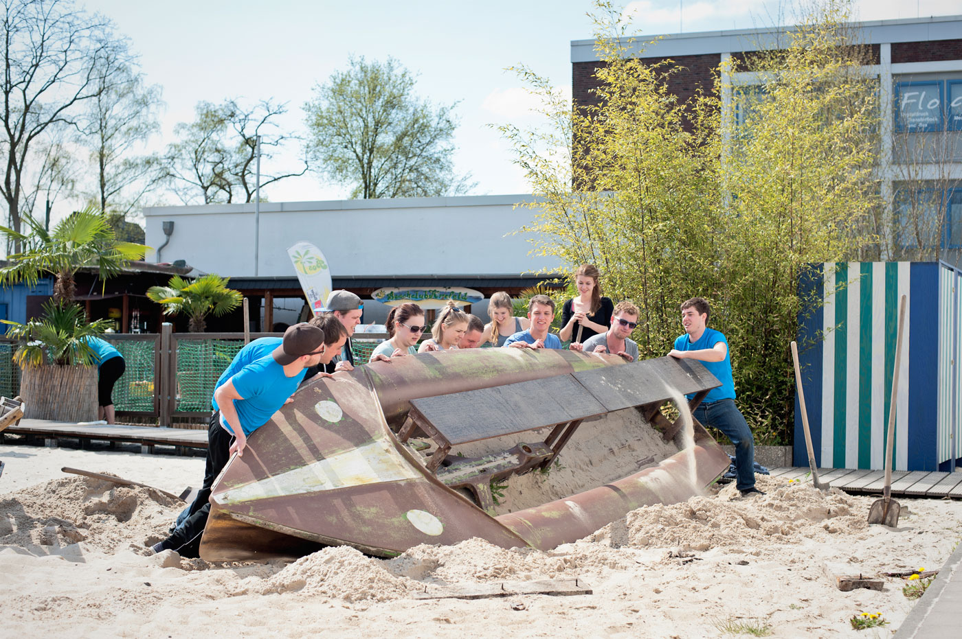 Von der Sport- zur Event-Location mit Strandfeeling - Zehn Jahre Beachclub Krefeld
