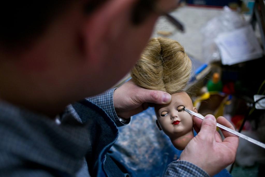 Puppe, Auge, Wimpern, Werkzeug