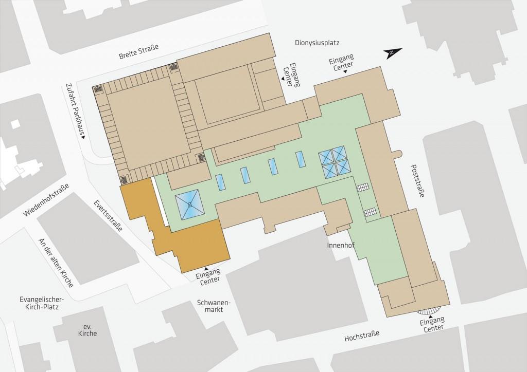 Lageplan Schwanenmarkt