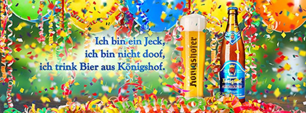 Anzeige, Bier, Brauerei Königshof