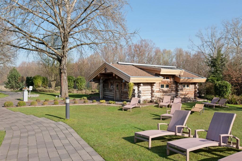 Sauna, Garten, Liegestühle