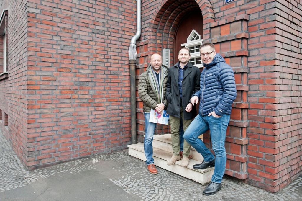 Peter Schwarz, Stefan Paveo und Thomas Siegert