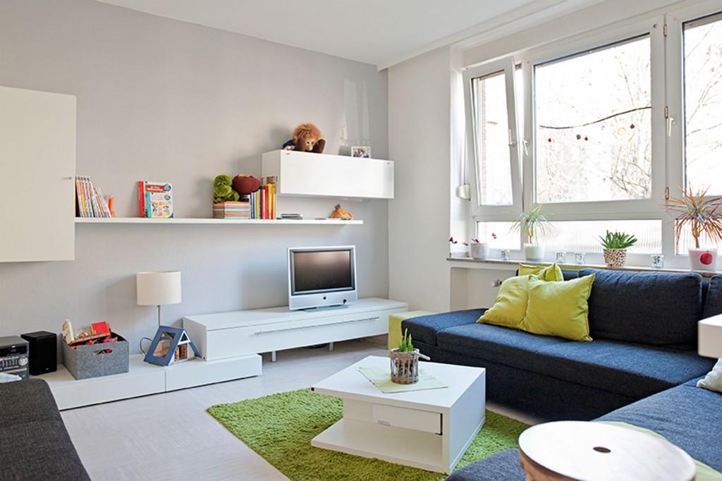 Wohnzimmer, Couch, Tisch
