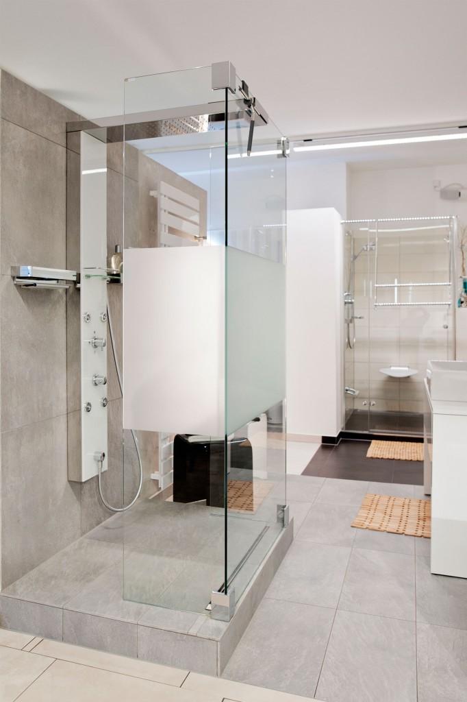 Badezimmer, Dusche, WZ, Glas
