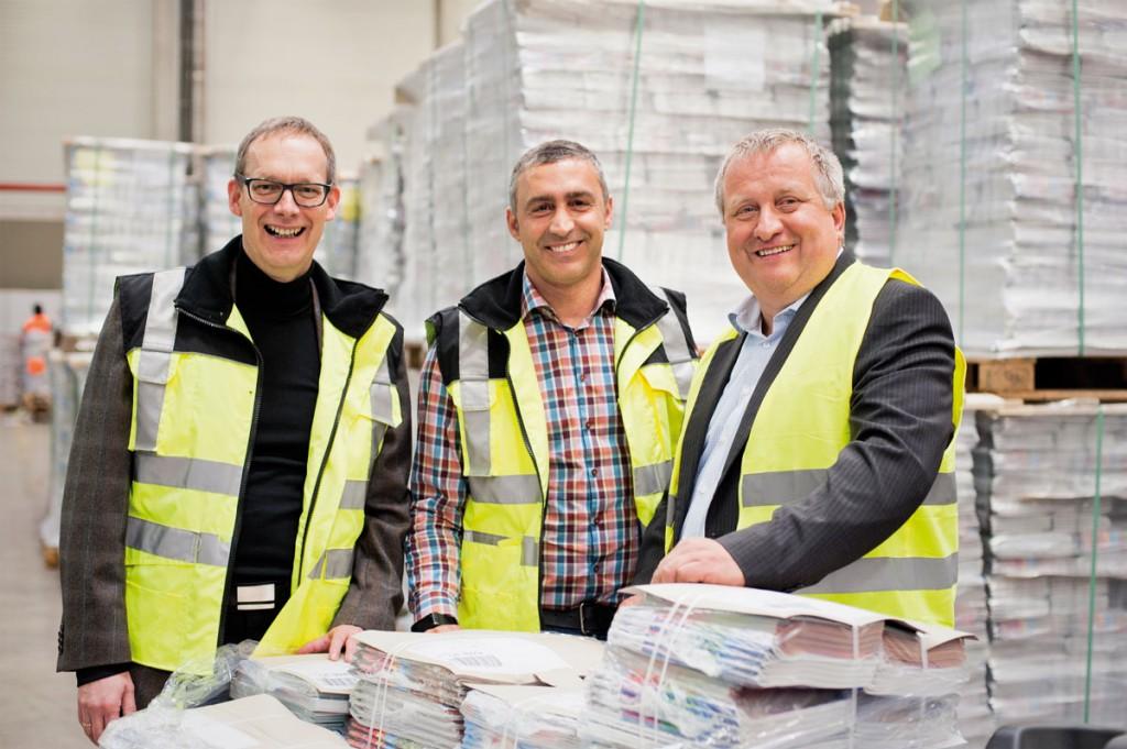 ZTV-Logistik Geschäftsführer Peter Kieffer, Leiter des Logistikservices Christos Kosmas und Geschäftsleiter Ralf Heller