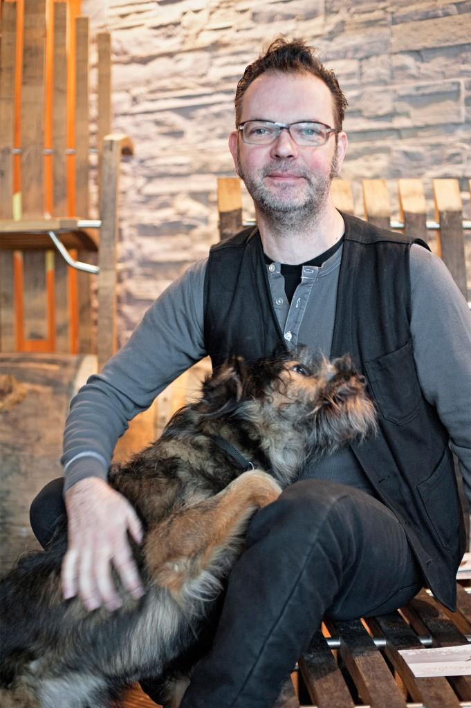 Michael Wolter mit Hund Verdi