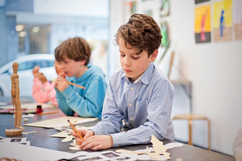 Junge, Stift, Malen, Figur