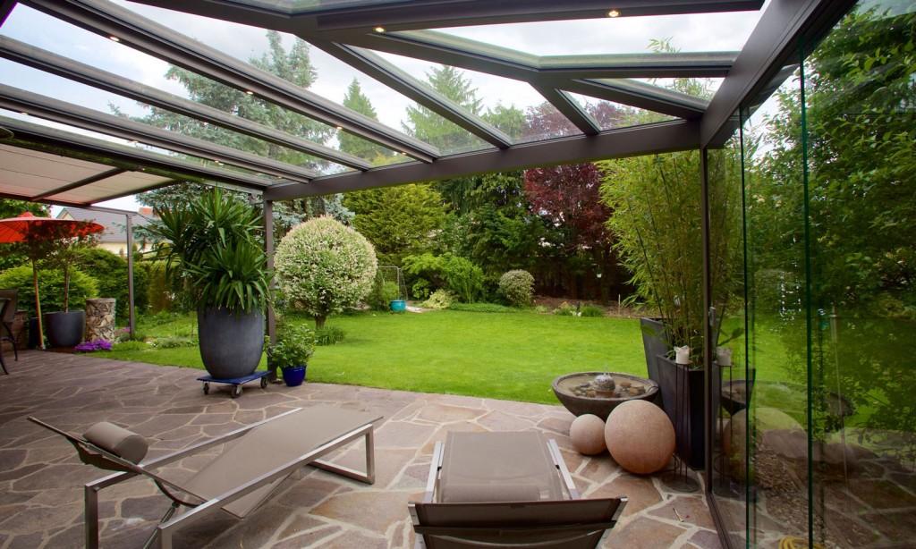 Wintergarten, Terrasse, Fenster