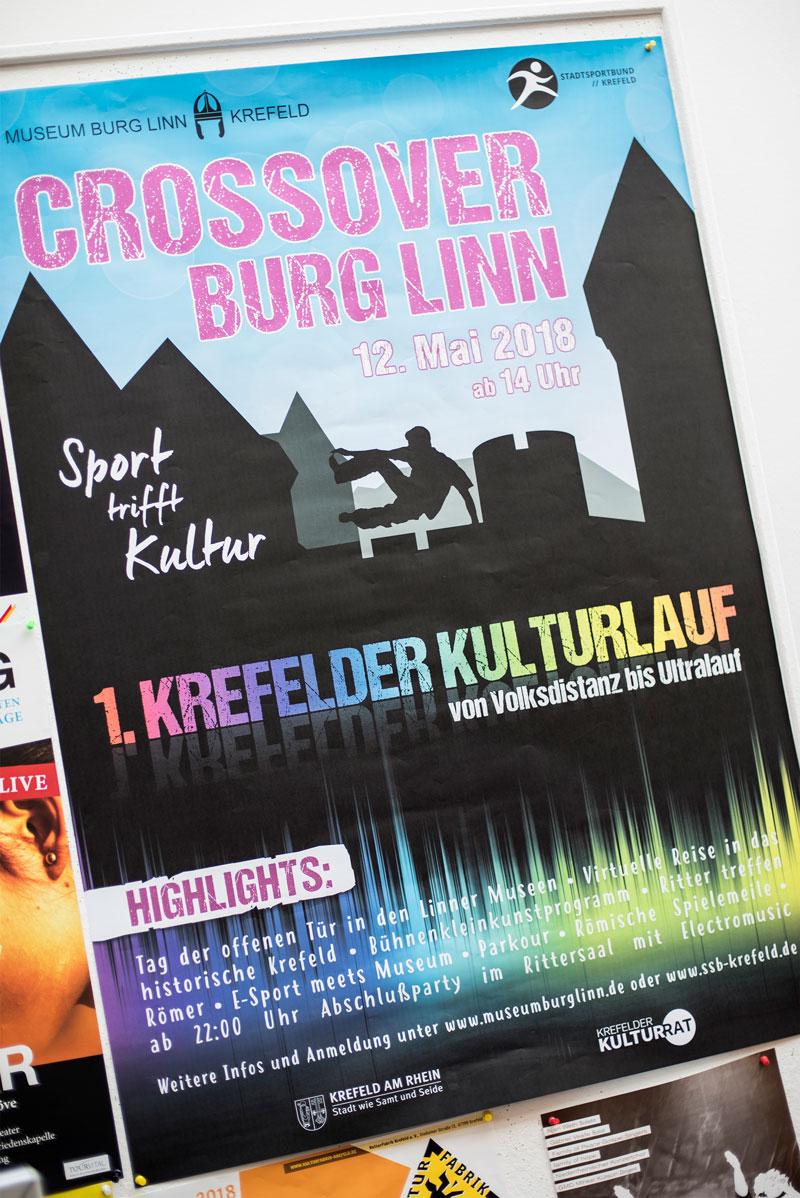 Crossover Burg Linn, Plakat
