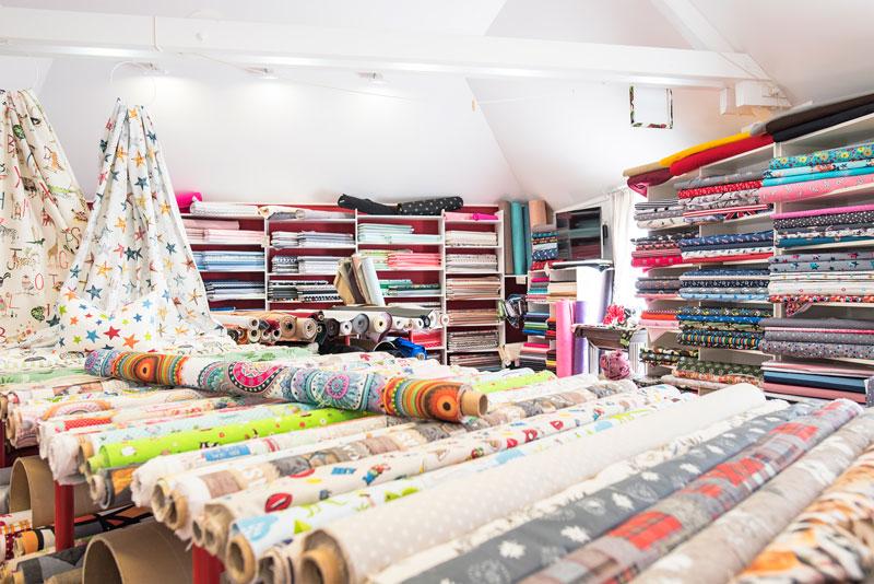 Stoffhaus Forstwald - ein Paradies für kreative Textilarbeit, Innen